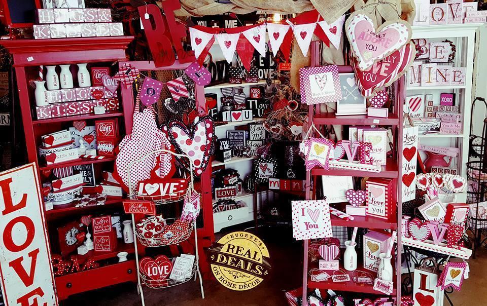 Eugene's Valentine's Decor