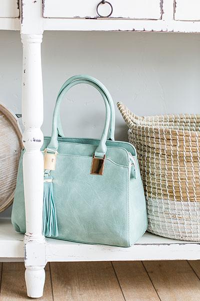 Aqua Handbag | Real Deals