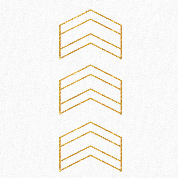 Gold arrows